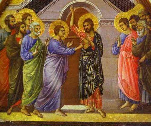 Michel blogue avec Jean Martial  Mbena/Sujet/Définis-moi d'abord qui est Dieu/ Duccio_doubting_thomas_2